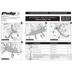 Spoiler silnika PUIG do Yamaha FZ8 N/S 10-16 (karbon) - produkt z kategorii- Pozostałe akcesoria motocyklowe