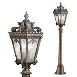 Zewnętrzna LAMPA stojąca KL/TOURNAI4/M Elstead KICHLER OPRAWA ogrodowa SŁUPEK IP44 outdoor latarnia mosiądz, KL/TOURNAI4/M