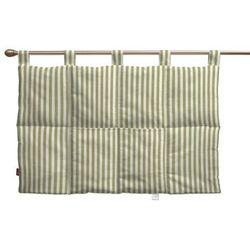 wezgłowie na szelkach, oliwkowo-białe paski, 90 x 67 cm, cardiff do -30% marki Dekoria