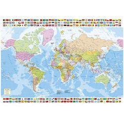 Puzzle 1500 Mapa polityczna Świata z flagami od InBook.pl