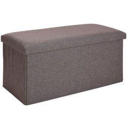 Home styling collection Podłużna pufa, pojemnik z pokrywą - 2 w 1, kolor szary