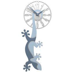 Zegar ścienny Hanging Gecko CalleaDesign błękitny, kolor niebieski