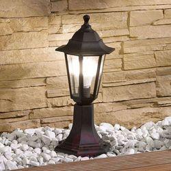 Słupek oświetleniowy Nane, latarnia, czarny