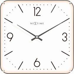 Zegar ścienny Basic Square Dome white by Nextime