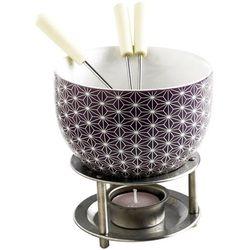 Zestaw do czekoladowego fondue  białe gwiazdki marki Mastrad