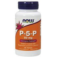 Tabletki WITAMINA B6 50mg P-5-P - 60 tabl Nowfoods