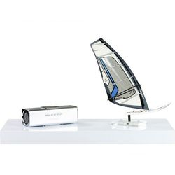 Biały połysk półka naścienna wisząca volato 50 cm - 50 cm marki Stilista ®