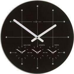 Nextime Zegar ścienny big city  43 cm, czarny