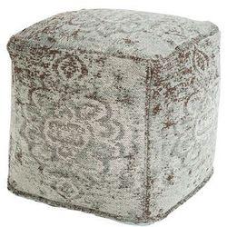 Vintage kwadratowy puf beżowy z brązowym 45 x 45 x 45cm - kanpur marki Qazqa