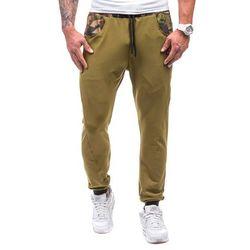 Moro-khaki spodnie dresowe męskie Denley 0474 marki ATHLETIC