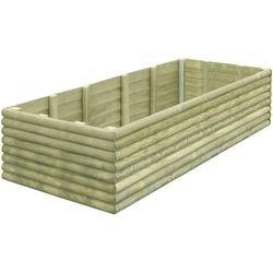 Skrzynia ogrodowa z impregnowanego drewna, 197x106x48 cm