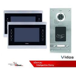 Zestaw dwurodzinny wideodomofonu z czytnikiem kart rfid s562a_m901s marki Vidos
