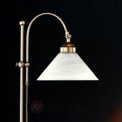 Hugo honsel gmbh Stylowa lampa stojąca antwerpen mosiądz