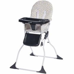 Safety 1st wysokie krzesełko składane keeny grey patches, czarne (3220660281015)