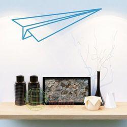 Naklejka na ścianę samolocik origami 2473 marki Wally - piękno dekoracji