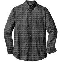 Koszula biznesowa w kratę glencheck regular fit  czarno-biały wzorzysty, Bonprix