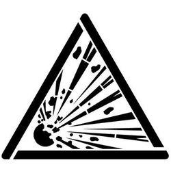Szablon do malowania znak ostrzeżenie przed niebezpieczeństwem wybuchu gw002- 85x97 cm marki Szabloneria