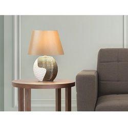 Beliani Nowoczesna lampka nocna - lampa stojąca - miedziano-beżowa - esla