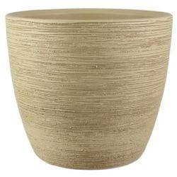 Osłonka doniczki Cermax ryflowana 30 cm piasek