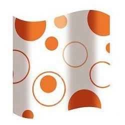 zasłonka prysznicowa peva 180 x 180 cm biała w pomarańczowe kółka awd02100817 marki Awd interior