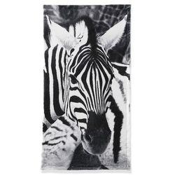 """Ręcznik """"zebra"""" czarno-biały marki Bonprix"""