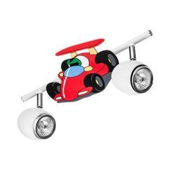 Britop lighting Lampa dla dziecka samochód wyscigówka - car biały/ chrom 2x50w gu10 (5901289717281)