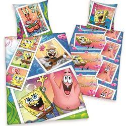 Dekoria Komplet pościeli Sponge Bob, poszwa 140x200cm, poszewka 70x90cm