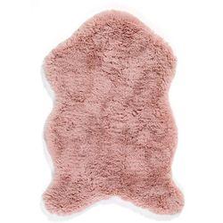 Dywan ze sztucznego futerka bonprix dymny różowy