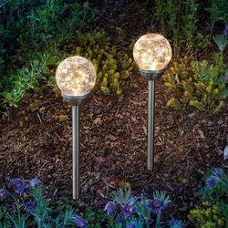 Lampy solarne Golden Dream z grotem ziemnym 2 szt.