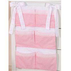 przybornik na łóżeczko sówki uszatki różowe marki Mamo-tato