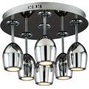 Spotlight Plafon lampa sufitowa merlot 1194668 okrągła oprawa led 30w kielichy chrom
