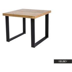 SELSEY Stolik kawowy Qildor 60x60 cm z litego drewna dębowego (5903025237381)