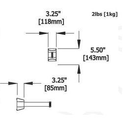 Taśma ostrzegawcza rozwijana w kasecie montowanej na śruby. MIDI. Zapięcie standardowe (Długość 4,6m) -