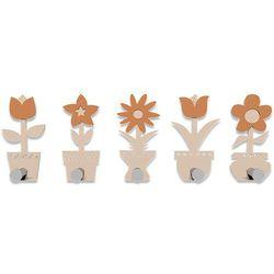 Wieszak ścienny Little Flowers CalleaDesign różowo-piaskowy