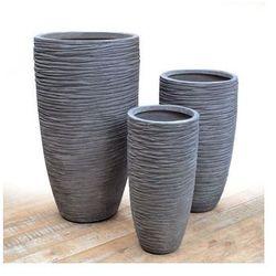 Donica ogrodowa szara 77cm medium wyprodukowany przez Miloo