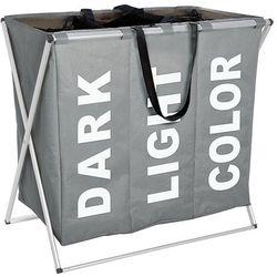 Pojemnik na pranie TRIO GREY - aż 130 litrów, WENKO, B01C86RWZE