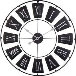 Metalowy zegar ścienny, czarny, Ø 70 cm, B0127D47P6