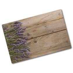 Deska do krojenia hartowana Lawenda na drewnie