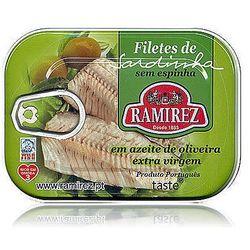 Filety z sardynek portugalskich w oliwie extra virgin, z kawałkami oliwek Ramirez 100g., kup u jednego z part