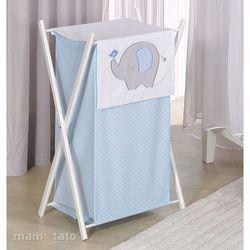 kosz na bieliznę słonik błękitny marki Mamo-tato