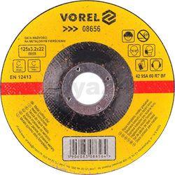 Tarcza do cięcia metalu wypukła 125x3,2x22 / 08656 / VOREL - ZYSKAJ RABAT 30 ZŁ