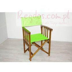 Krzesło drewniane, składane, jasna zieleń, towar z kategorii: Krzesła ogrodowe