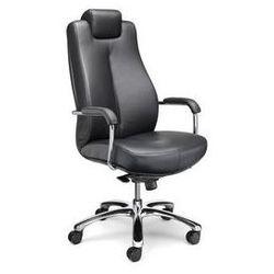 Krzesło obrotowe dla operatora,biurowe krzesło obrotowe, miękka skóra marki Nowy styl