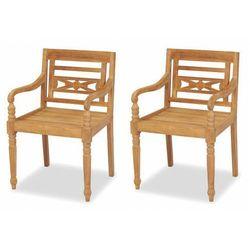 Zestaw drewnianych krzeseł ogrodowych - kselia marki Elior