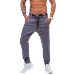 Grafitowe spodnie baggy męskie Denley 0399 - GRAFITOWY, spodnie męskie ATHLETIC