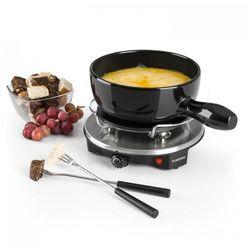 Klarstein Sirloin Raclette z fondue garnek ceramiczny 1200W czarny (4260509687157)