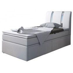 Łóżko z szufladami na pościel Varris 90x200 - 25 kolorów, MKS Riva Single