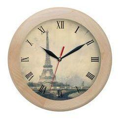 Zegar drewniany rondo Paris, ATW301EF