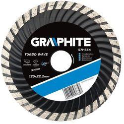 Tarcza do cięcia GRAPHITE 57H634 125 x 22.2 mm diamentowa turbo wave