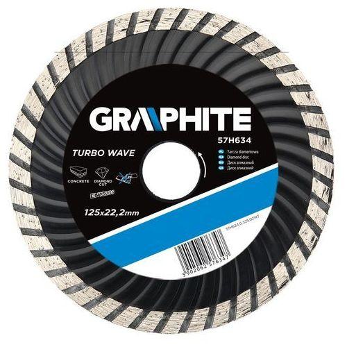 Tarcza do cięcia GRAPHITE 57H634 125 x 22.2 mm diamentowa turbo wave - produkt z kategorii- tarcze do cięcia